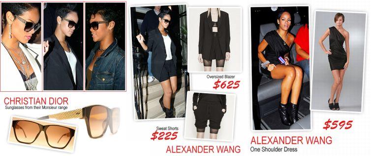 Rihanna + Alexander Wang+Christian Dior