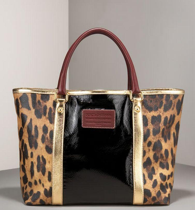 Dolce & Gabbana Miss Escape Leopard-Print Tote