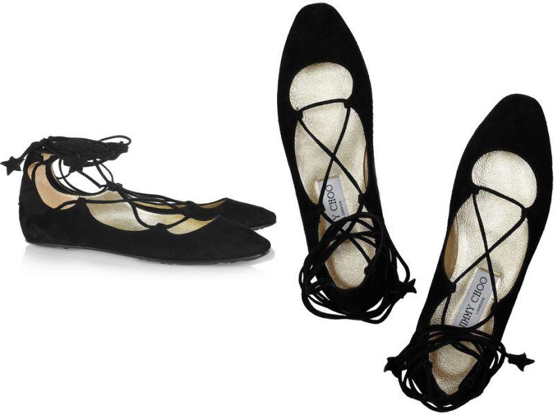 jimmy choo widdin suede ballerina flats fashion mile. Black Bedroom Furniture Sets. Home Design Ideas